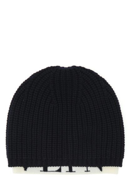 Two-tone wool beanie