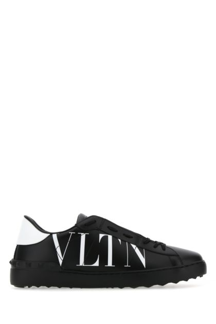 Black leather Open sneakers