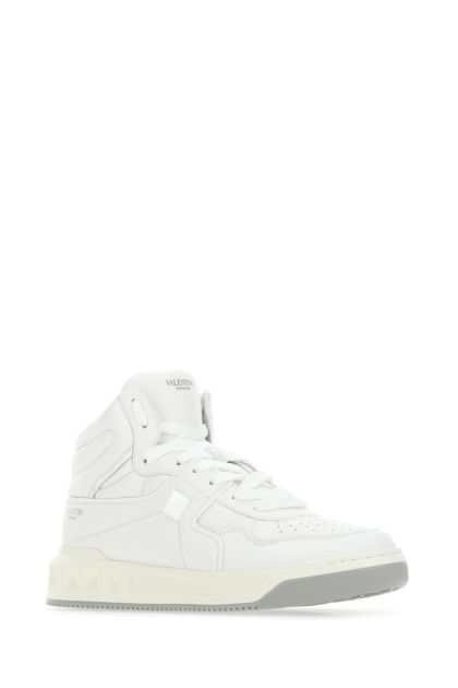 White nappa leather One Stud sneakers