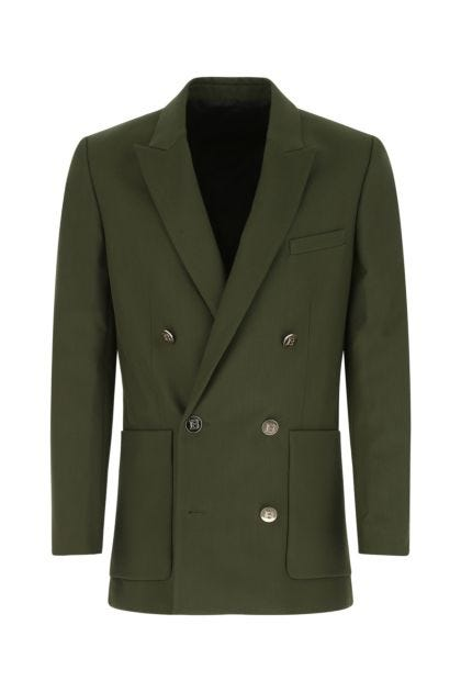 Army green wool blazer
