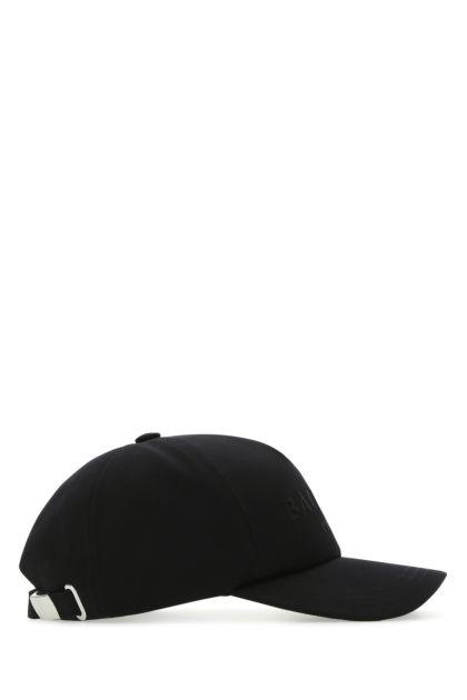 Black cotton baseball cap