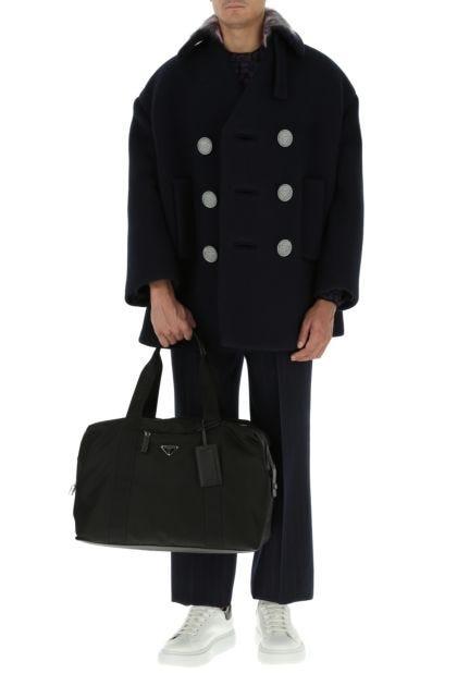 Black nylon travel bag