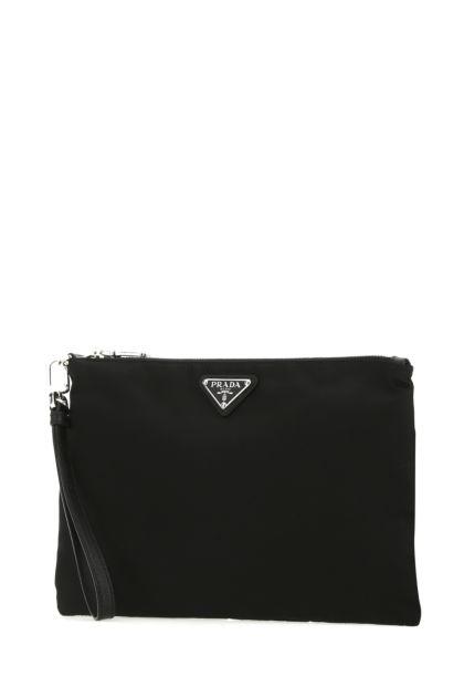 Black Re-nylon clutch