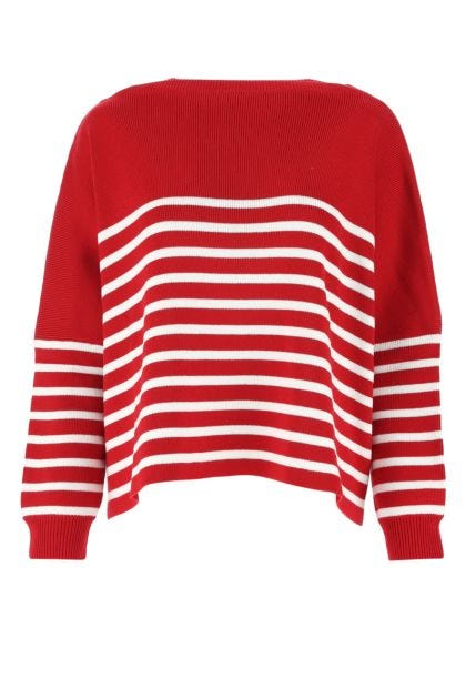 Embroidered cotton oversize sweater