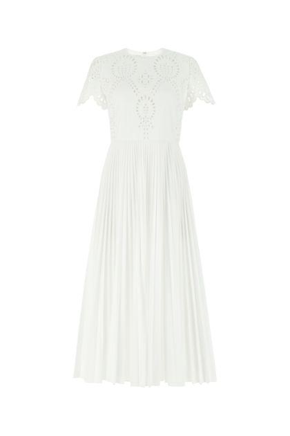 White cotton blend dress