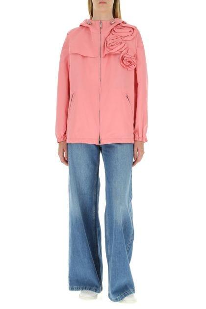 Pink cotton blend k-way