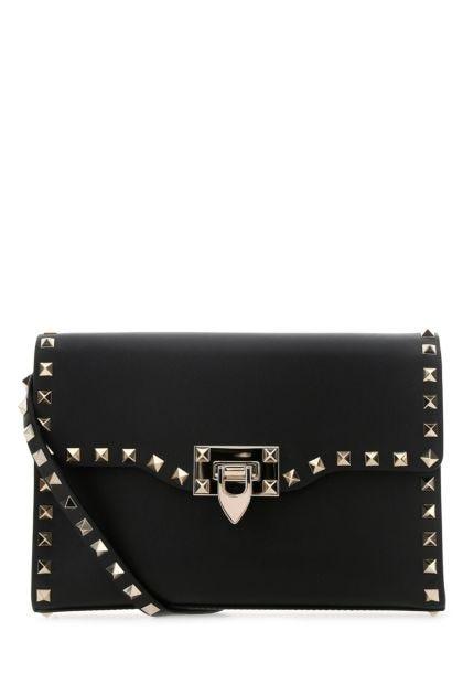 Black leather Rockstud crossbody bag