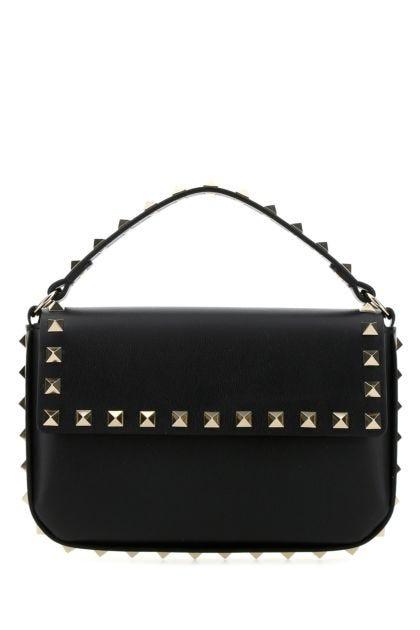 Black leather Rockstud handbag