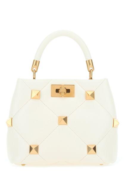 Ivory nappa leather small Roman Stud handbag