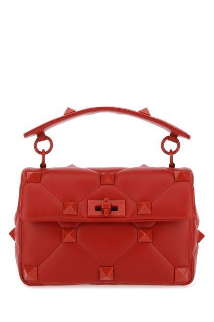 Red nappa leather medium Roman Stud handbag