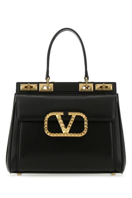 Black leather medium Rockstud Alcove handbag