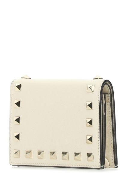 Ivory leather Rockstud wallet