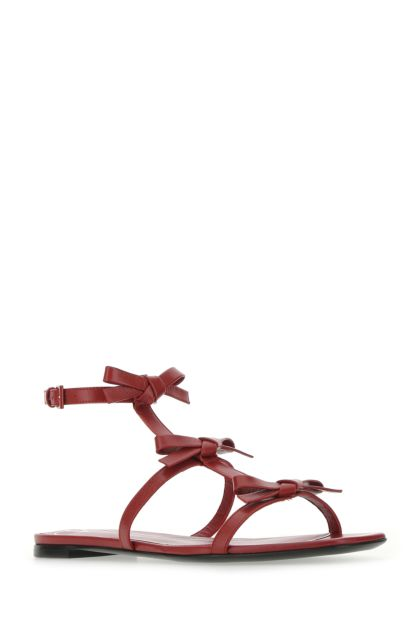Tiziano red leather French Bows sandals