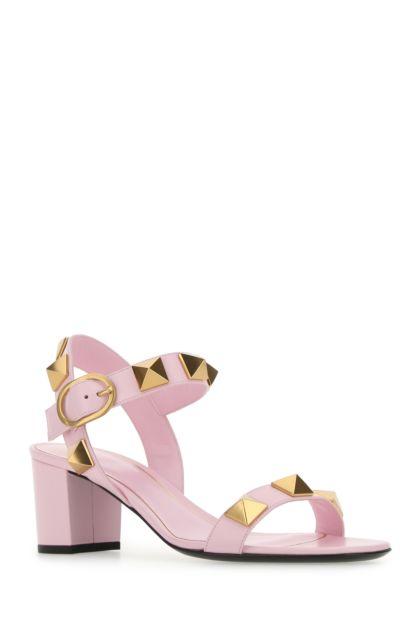 Pink leather Roman Stud sandals