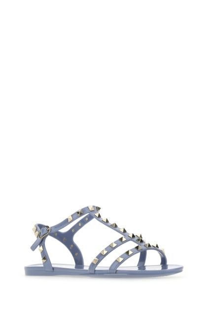 Powder blue rubber Rockstud sandals