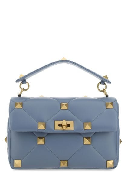 Powder blue nappa leather large Roman Stud handbag