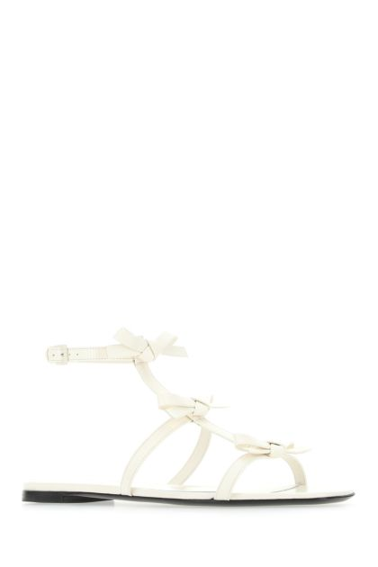Ivory leather French Bows sandals