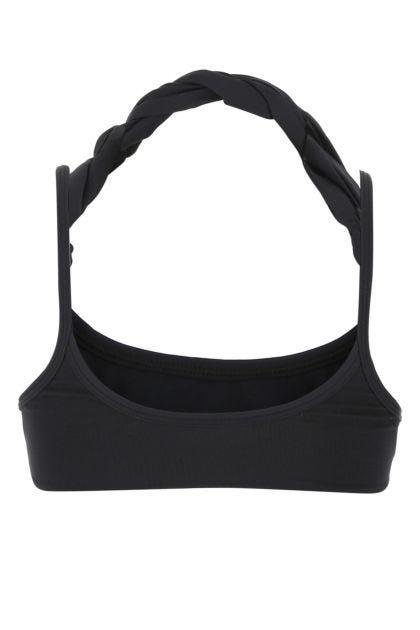 Black stretch nylon bikini top