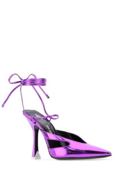 Purple leather Anais pumps