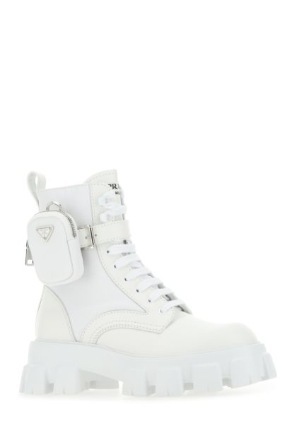 White leather and Re-nylon Monolith boots