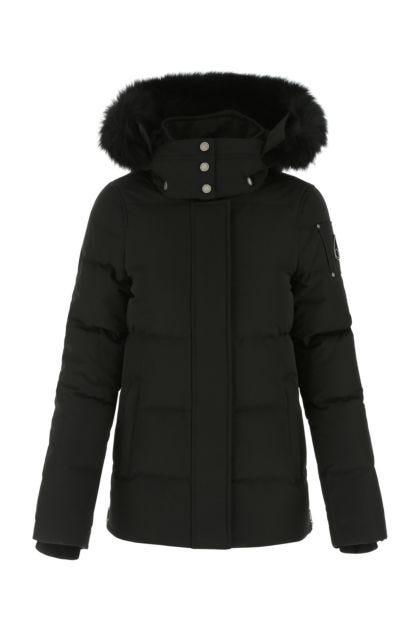 Black cotton blend Astoria down jacket