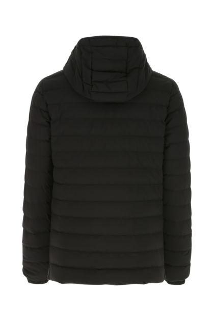 Black stretch polyester Fullcrest down jacket