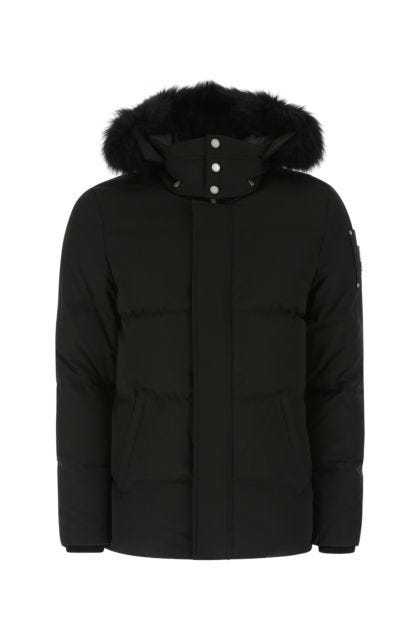 Black cotton blend Richardson down jacket