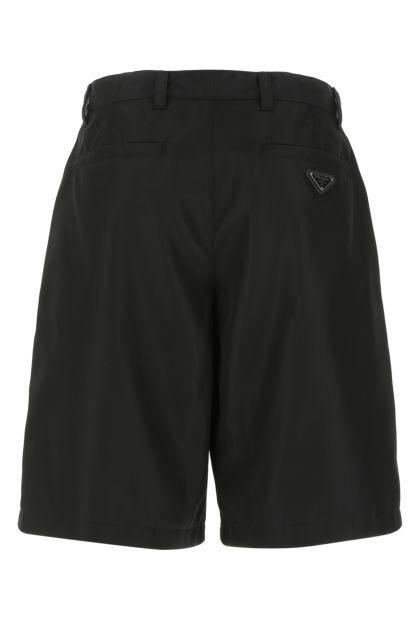 Black Re-nylon bermuda shorts