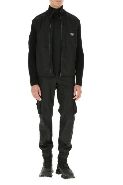 Black Re-nylon cargo pant