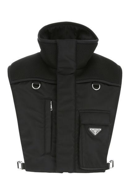 Black Re-nylon padded bib top