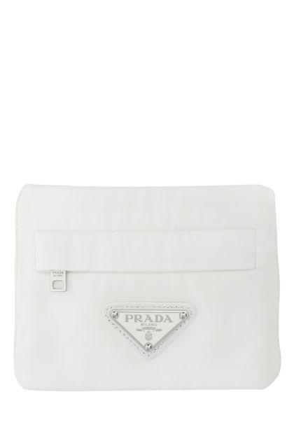 White stretch wool blend cuff