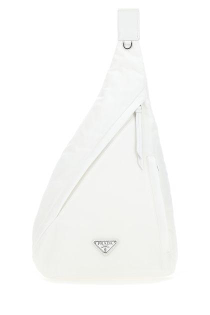 White Re-nylon backpack