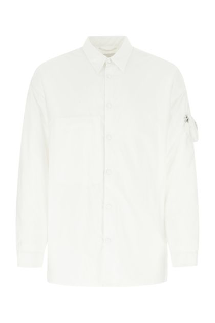 White Re-nylon padded shirt