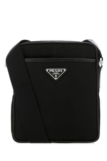 Black nylon crossobody bag