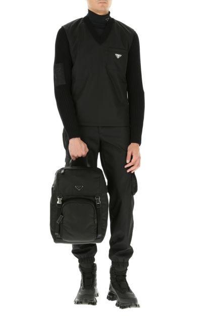 Black Re-nylon backpack