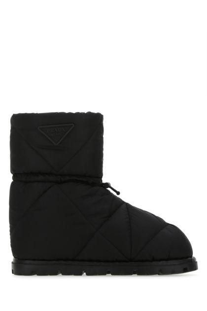 Black Re-nylon ankle boots