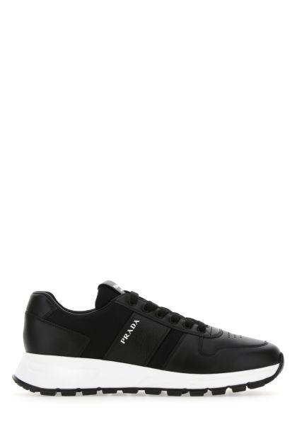 Black leather and mesh Prada PRAX 01 sneakers
