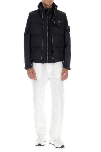 Navy blue Re-nylon sleeveless down jacket