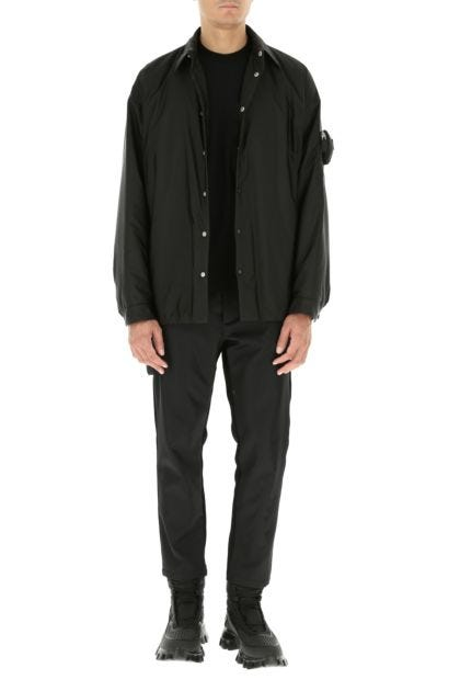 Black cotton blend and Re-nylon pant