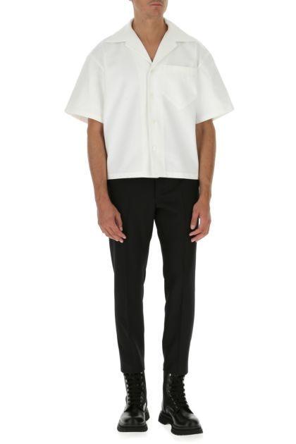 White gabardine shirt