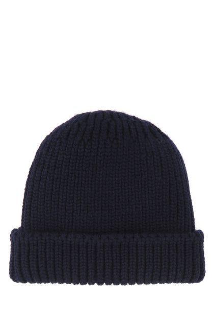 Midnight blue wool beanie