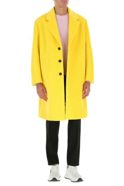 Yellow velvet coat