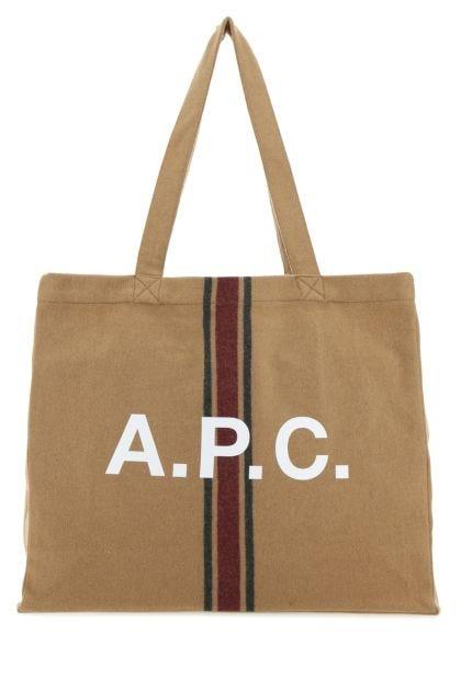 Camel wool blend shopping bag