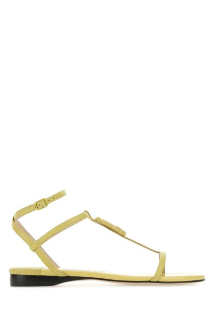 Pink nappa leather Alodie sandals