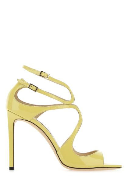 Yellow leather Lang sandals