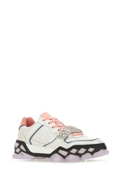 Multicolor nappa leather Diamond X Strap/F sneakers
