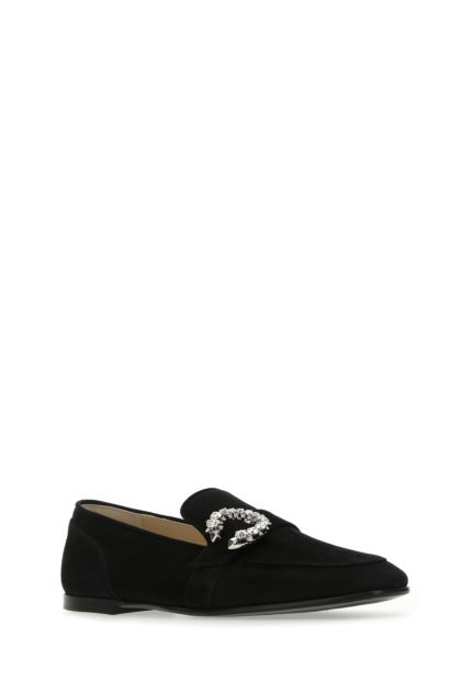 Black suede Mani loafers