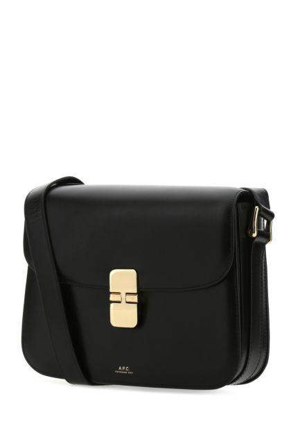 Black leather Grace crossbody bag