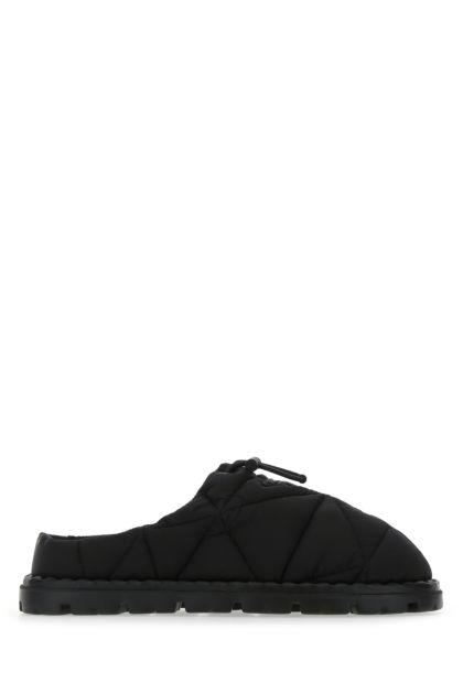 Black Re-nylon slippers