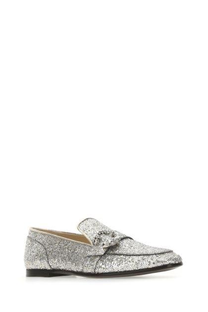 Embellished fabric Mani Flat loafers
